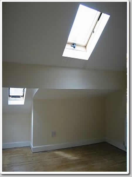 Photo of the space created when you choose to convert your attic into something useful.