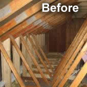 Image of roof space before our conversion project proceeds.