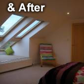 Photo showing an image of the completed loft conversion project.